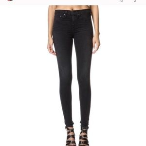 Rag & Bone High Rise Leggings Skinny Black Jeans